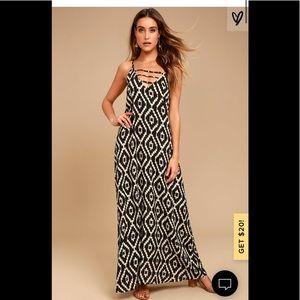 NWT LULU's light and airy maxi dress